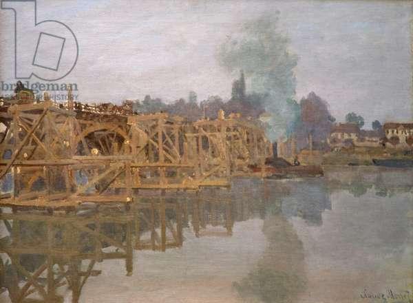 Road Bridge at Argenteuil Under Repair, 1872 (oil on canvas)