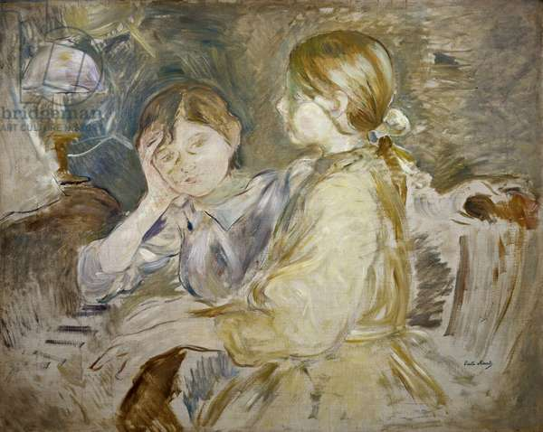 The Piano Lesson (oil on canvas)