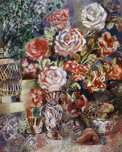 Flowers And Fruits by Jean Dufy, 1927 (oil on canvas)
