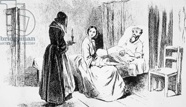 Miss Nightingale and the Dying Soldier by Aritist Unknown,