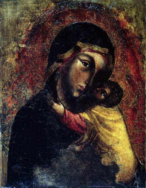 Madonna and Child (tempera on panel)