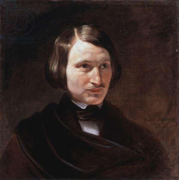 Portrait of Nikolay Vasilyevich Gogol 1840 Feodor Antonovich Moller (1812-1875) Ivanosky Art Museum, Russia
