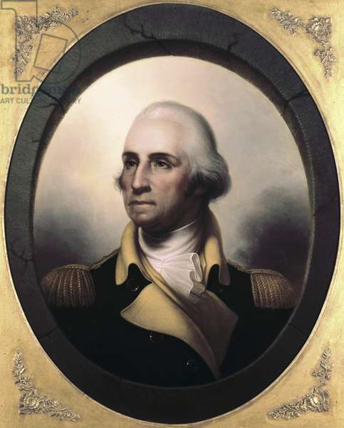 Portrait of George Washington (1732-99) (oil on canvas)
