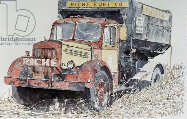 Riche Coal Truck 1987 Anthony Butera (b.20th C.) Watercolor