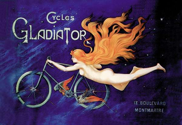 Poster advertising 'Cycles Gladiator', c.1895 (colour litho)