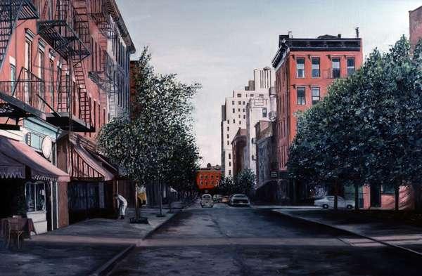 Bleecker St., New York, NY, 1984, Anthony Butera, (b.20th C.), Oil