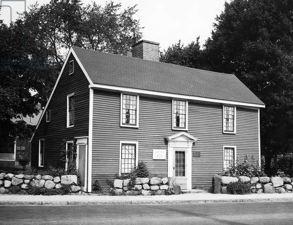 Facade of a house, Birthplace of John Quincy Adams, Adams National Historic Park, Quincy, Massachusetts, USA