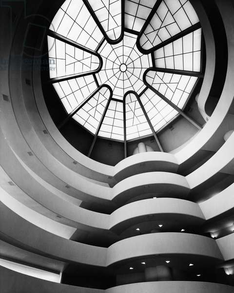 Interior of an art museum, Solomon R. Guggenheim Museum, New York City, New York State, USA