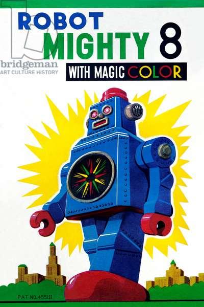 Robot Mighty 8 with Magic Color, Robots, ray guns & rocket ships