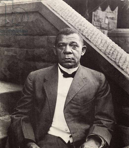 Booker T. Washington (1856-1915) (b/w photo)