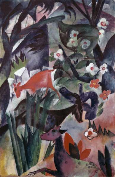 Animals And Flowers (painting)