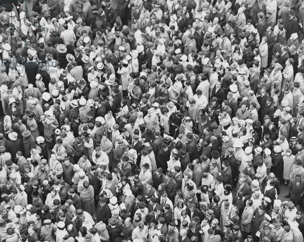 High angle view of a crowd