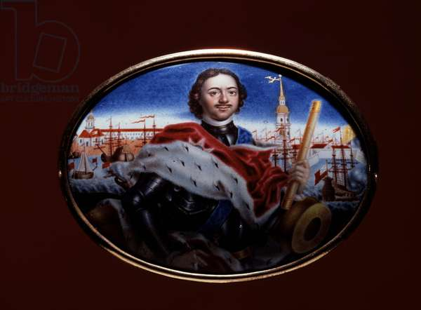 Peter the Great Oil on board Hermitage Museum, St Petersburg, Russia