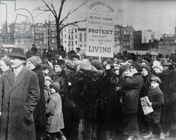 New Yorkers Protest Against the High Cost of Living in 1917