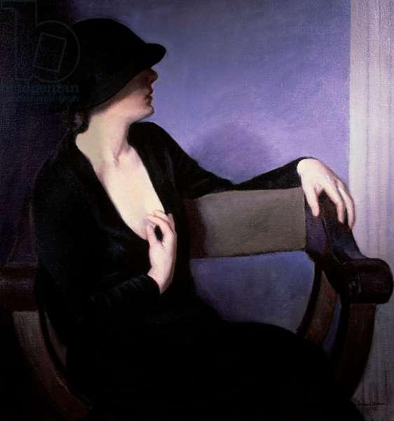 Woman in Black Bernhard Gutmann 1869-1936 American David David Gallery, Philadelphia, USA