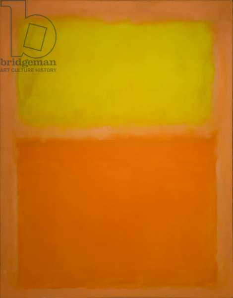 Orange and Yellow, 1956 (oil on canvas)