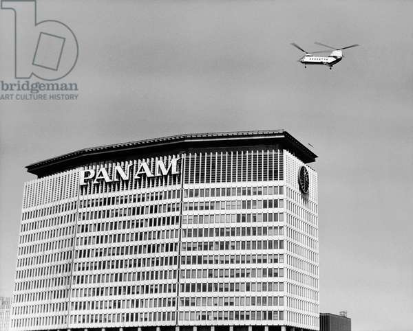 Low angle view of a building, Pan Am Building Heliport, New York City, New York State, USA
