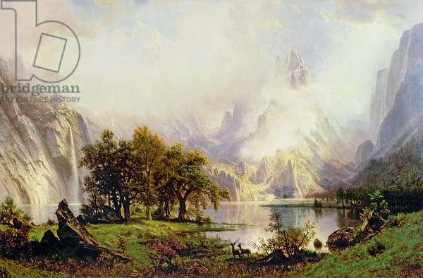 Rocky Mountain Landscape, 1870 (oil on canvas)