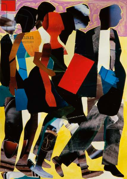 Marching, 2005, Gil Mayers (b.1947/American), Collage