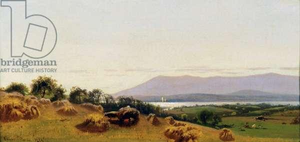 Harvesting 1866 Ernest Parton (1845-1933/American) David David Gallery, Philadelphia