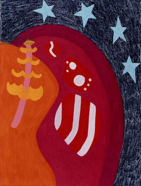 Magic Evening 1996 Catherine Hazard (b.1954 American) Oil on canvas