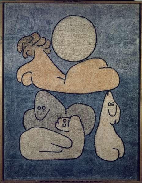 Le Torse Et Les Siens (By Full Moon) 1939 (oil on canvas)