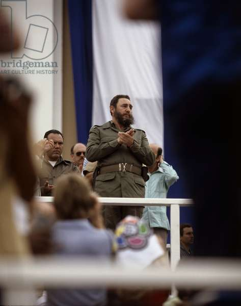 Fidel Castro (b.1926) in Santiago de Cuba (photo)