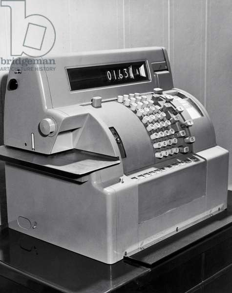 Close-up of a cash register