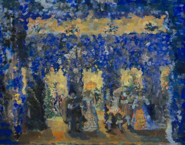 Pavilion In Court Garden, by Nikolaj Nikolaevic Sapunov, 1912, Russia, Ivanovo Provincial Art Museum, 1880-1912