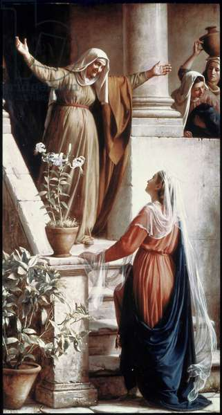 The Visitation (oil on canvas)