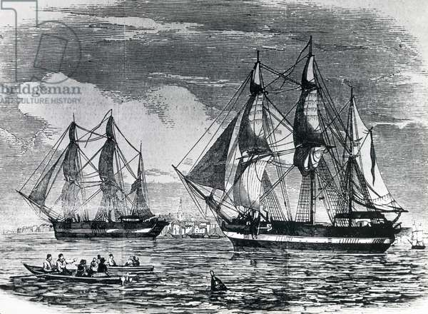 H.M.S. Erebus and Terror Leaving for discovery of North-West Passage