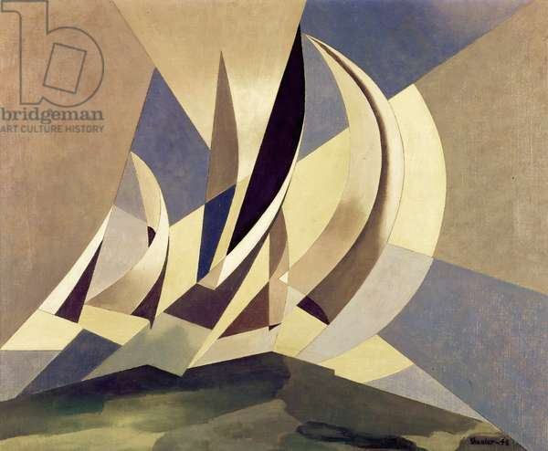 Wind, Sea and Sail by Charles Sheeler, oil on canvas, 1948, (1883-1965)
