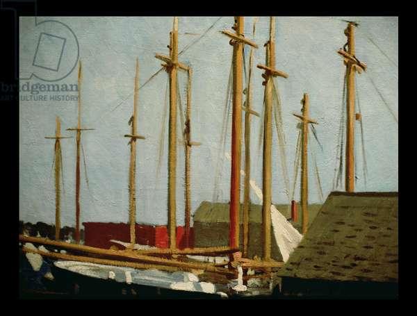 Tall Masts, Gloucester, 1912 (oil on canvas)