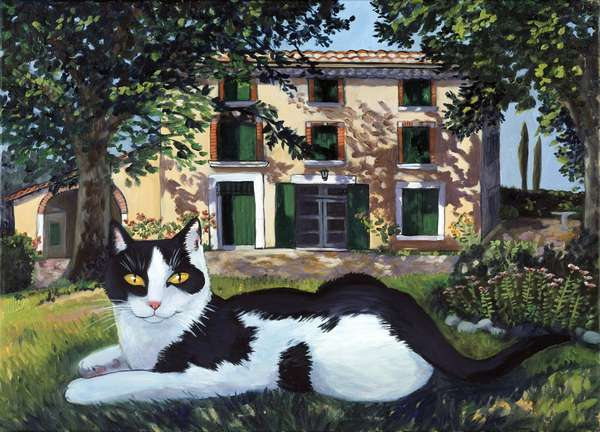 Cat in the Vicinity of Avignon, France 2001 Isy Ochoa (b.1961French) Oil on canvas