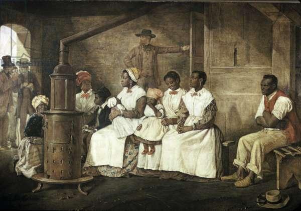 Slaves Waiting for Sale, Richmond, Virginia, 1861 (oil on canvas)