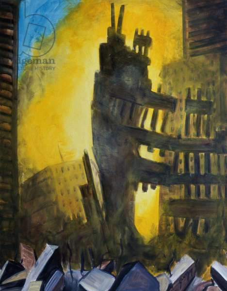Le Vide (Ground Zero) 2002 Erik Slutsky (20th C. Canadian) Oil on canvas