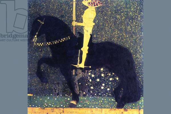 Life is a Struggle (Golden Rider), 1903 (oil, tempera & gold leaf on canvas)