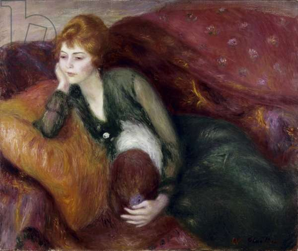 Young Woman in Green (oil on canvas)