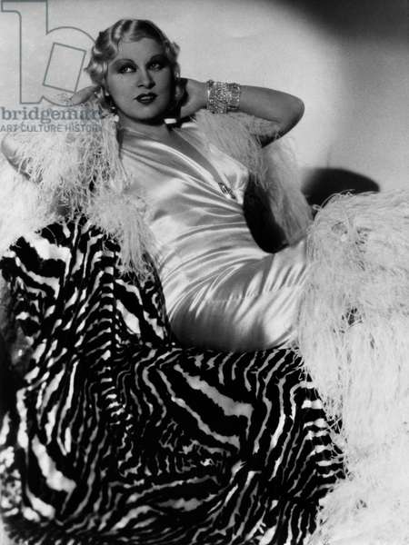 Mae West (1893-1980), American Actress, Author, Singer