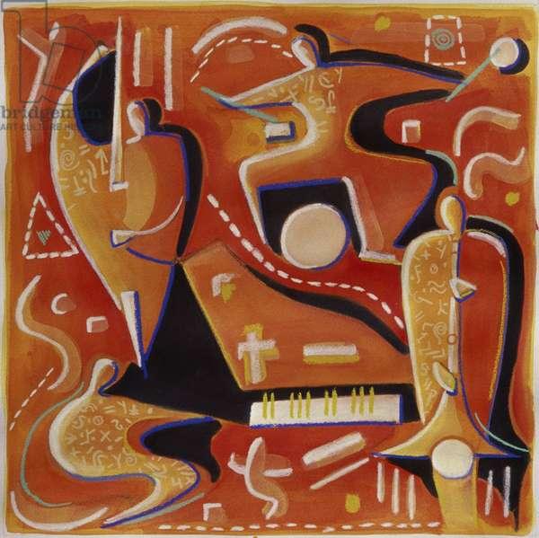 Paul Klee at Birdland Gil Mayers (b.1947/American) Mixed Media