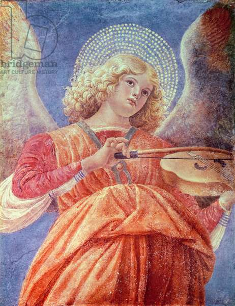 Musical Angel with Violin (fresco)
