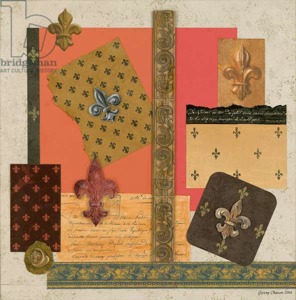 Variations on the Fleur de Lis 2006 Gerry Charm (b.20th C. American) Collage