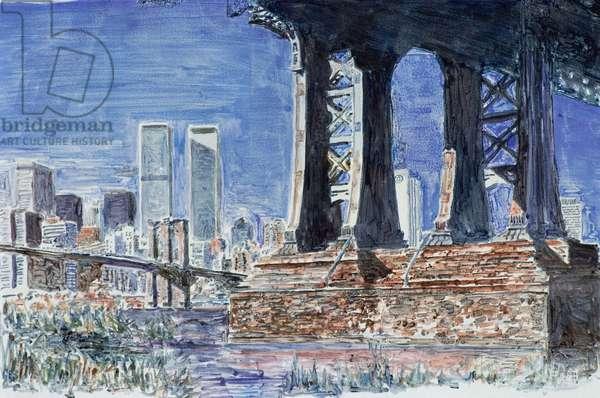 Under Manhattan Bridge, Brooklyn 1992 Anthony Butera (b.20th C.) Monotype