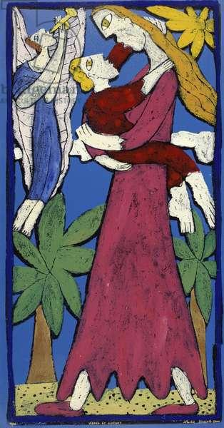 Virgin and Child, 2001 (styrofoam print)