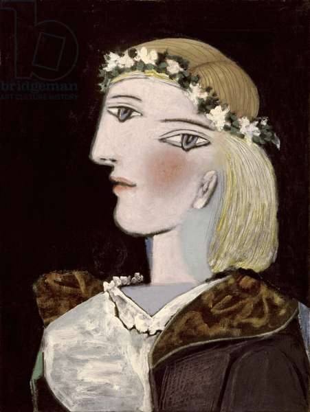 Marie-Therese With Garland, 1937 (oil on canvas)