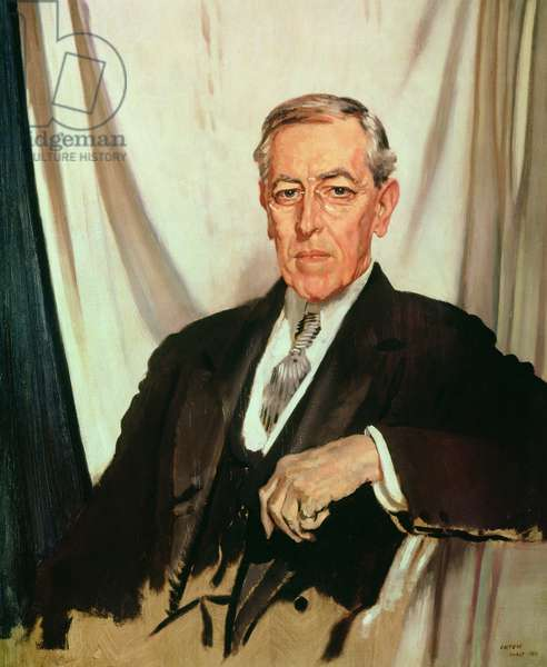 Portrait of Woodrow Wilson (1856-1924) c.1919 (oil on canvas)