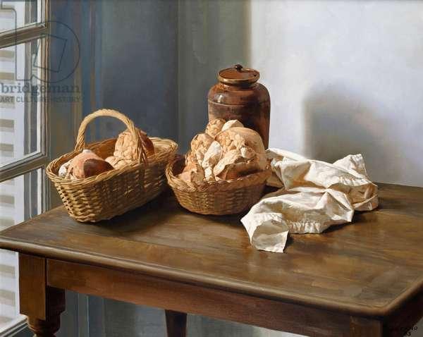 Baskets of Bread 1985 Juan Lascano (b.1947/Argentinean) Oil on canvas Zurbaran Galeria, Buenos Aires