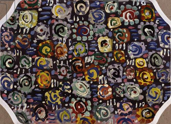 Swirls And Squares Peter Sickles (b.1945 American)