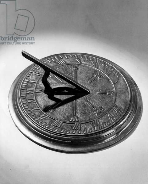 Close-up of a sundial