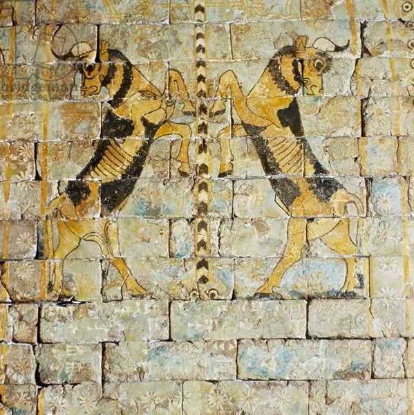 Lion mural from Shalmanasser Palace (ceramic)